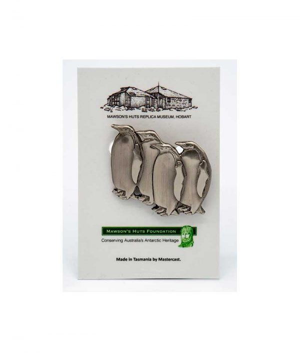 Mawson, Mawson's Huts, Mawson's Huts Foundation, Mawson Shop, Mawson's Huts Foundation Shop, Antarctic Souvenirs, Antarctic Jewellery, Jewellery, Silver Penguin Pin