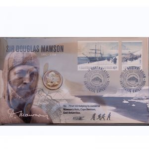 Mawson, Mawson's Huts, Mawson's Huts Foundation, Australia's Antarctic Heritage, Antarctic History, Support Mawson's Huts Foundation, Mawson One Dollar Coin, Collectable Coin,